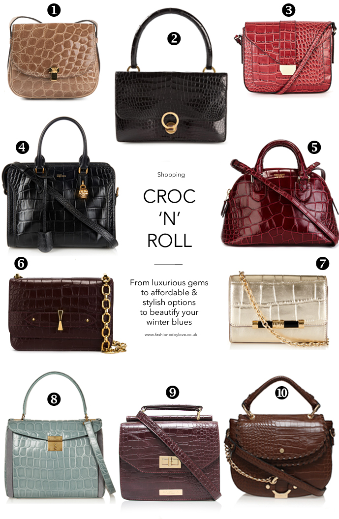 Best bags of Fall/Winter 2015 / trend report / crocodile alligator handbags to buy  for all budgets / via fashionedbylove.co.uk british fashion blog