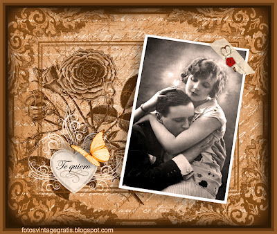 collage vintage para San Valentin pareja retro