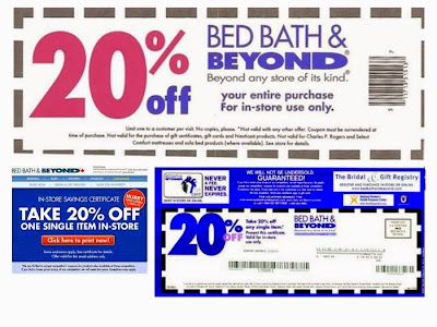 Bed Bath Beyond coupon 2015
