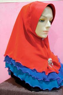 Warna: Merah Cili/Electric Blue/Light Blue