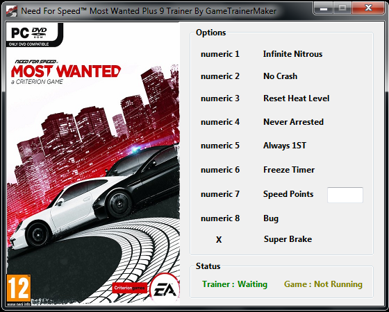 Need for Speed: Most Wanted GAME TRAINER +8 Trainer ...