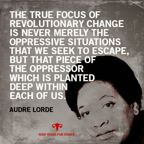Audre Lorde rocks.