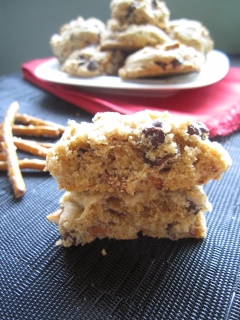 Pretzel and Chocolate Chip Cookies