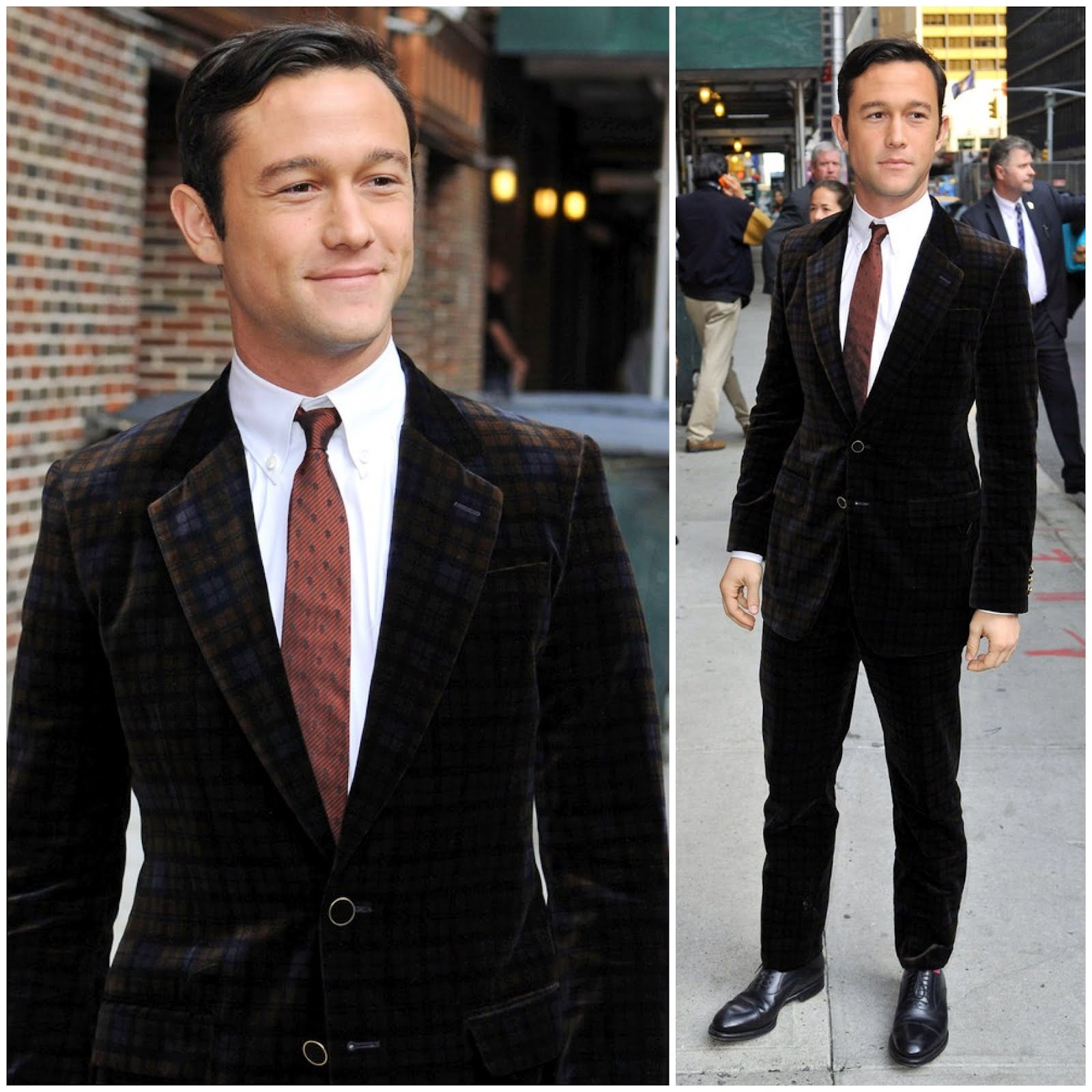 00O00 London Menswear Blog Joseph Gordon Levitt arrives ahead of his appearance on the