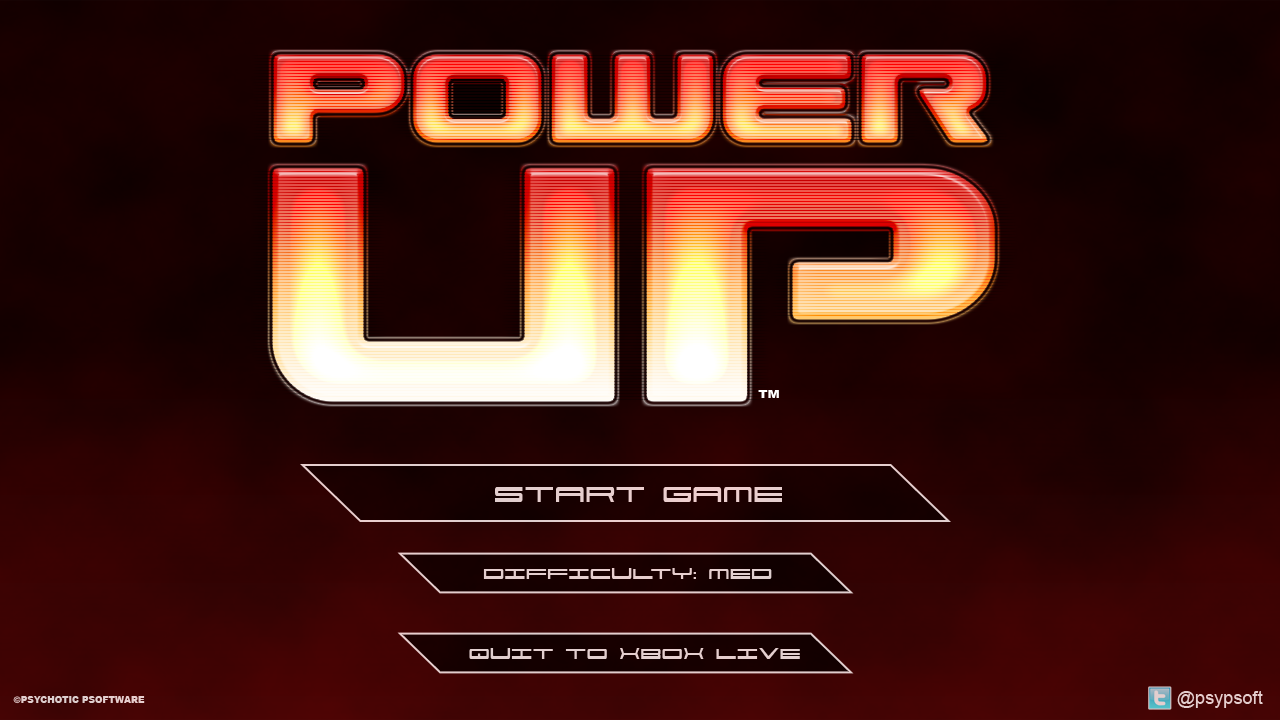 Getting stuck into the front end, I got the title screen to look something like this.It still needs polish but it's a start.