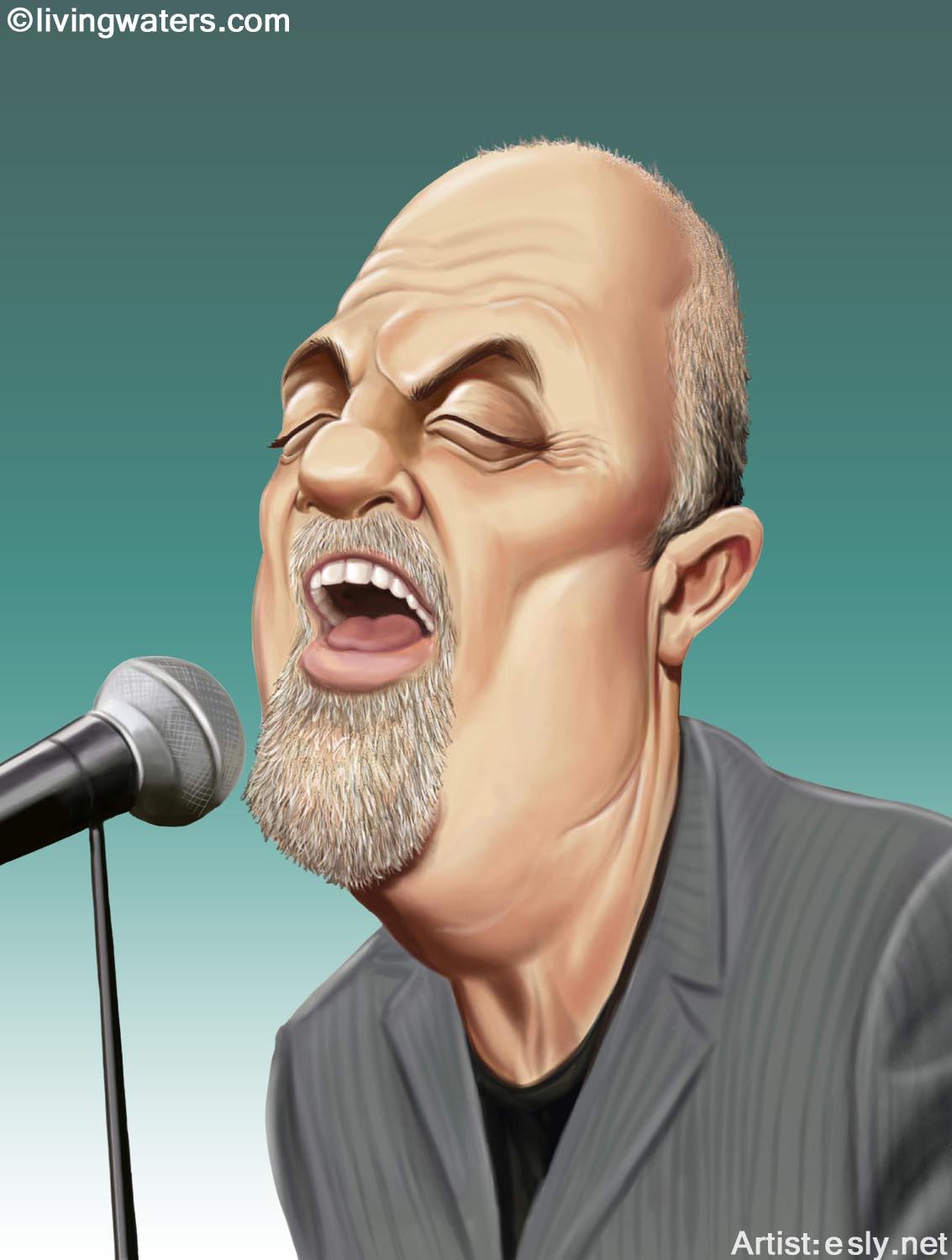 Image result for billy joel caricature