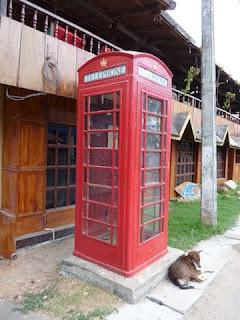 cabine téléphonique au Sri Lanka
