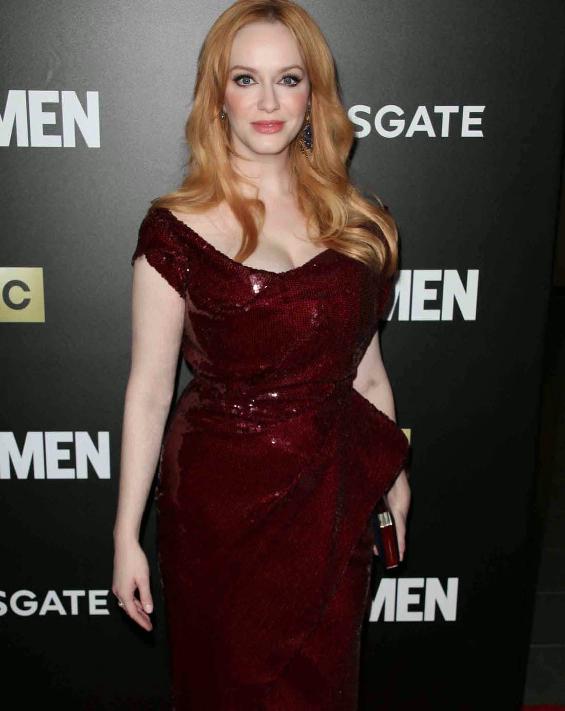 Christina Hendricks Busts Out For Mad Men