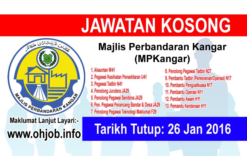 Jawatan Kerja Kosong Majlis Perbandaran Kangar (MPKangar) logo www.ohjob.info januari 2016