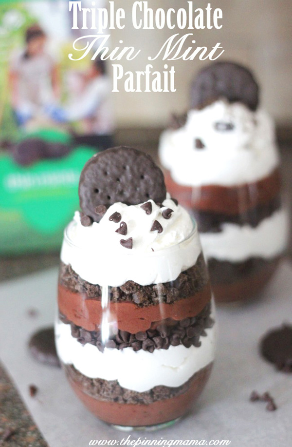 Triple Chocolate Thin Mint Parfaits http://goo.gl/5aeWi3