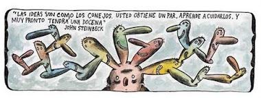 Pensando las ideas como conejos