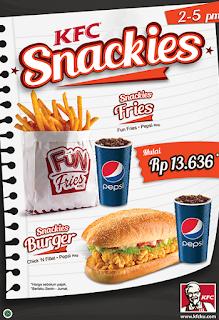 Harga Menu KFC Snackies Terbaru,harga kentang goreng kfc,kentang goreng kfc,harga kentang kfc,harga kentang,kentang goreng fiesta,daftar menu kfc,