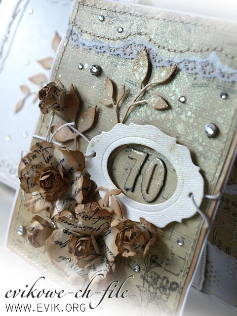 Tim Holtz Sizzix - TAG & BOOKPLATES, Memory box Fresh Foliage,  ręcznie robiona kartka, handmade card