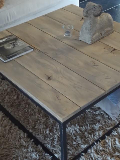 Concrete Paste Wax : Woondroom salontafel in paste wax deel