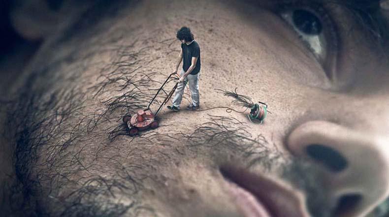 Maestro del Photoshop convierte sus sueños más salvajes en disparatadas foto-manipulaciones