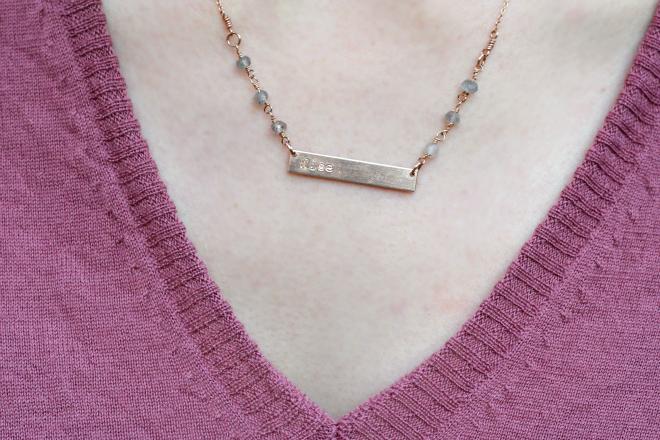 fashionable customizable horizon necklace