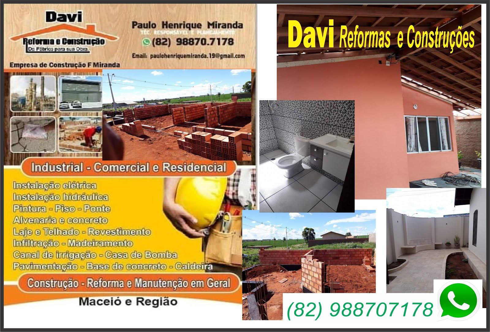 DAVI   REFORMAS E CONSTRUÇÕES