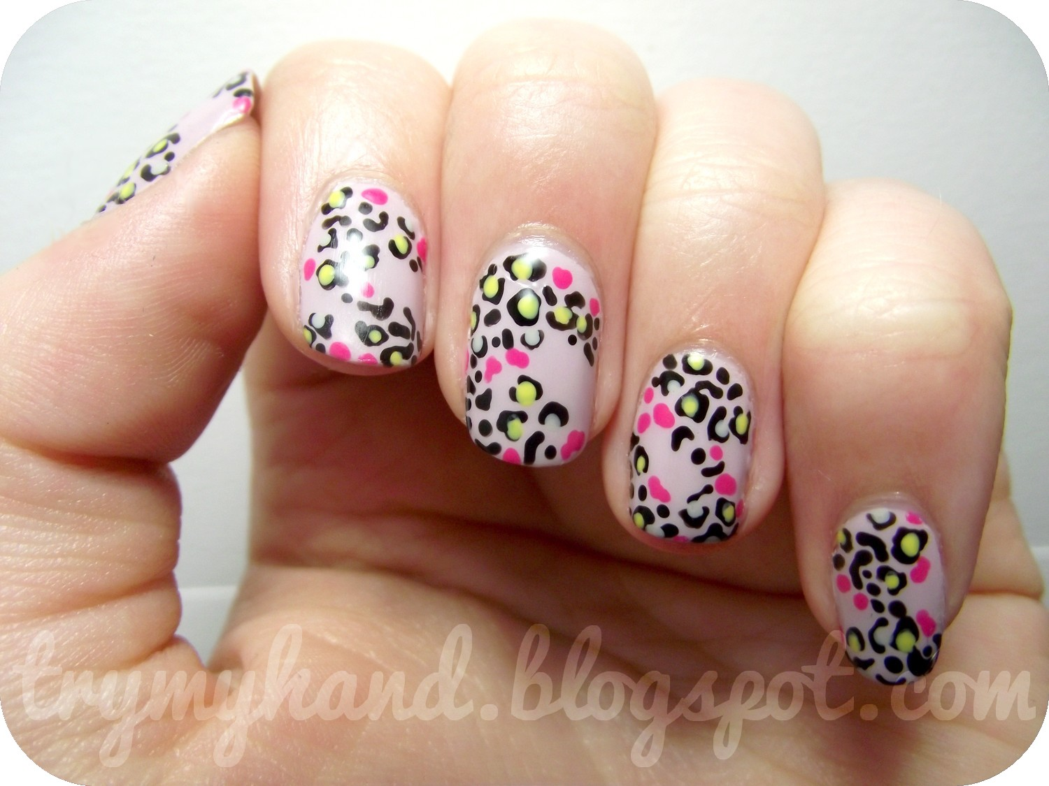 Try My Hand: Leopard dress inspired nails