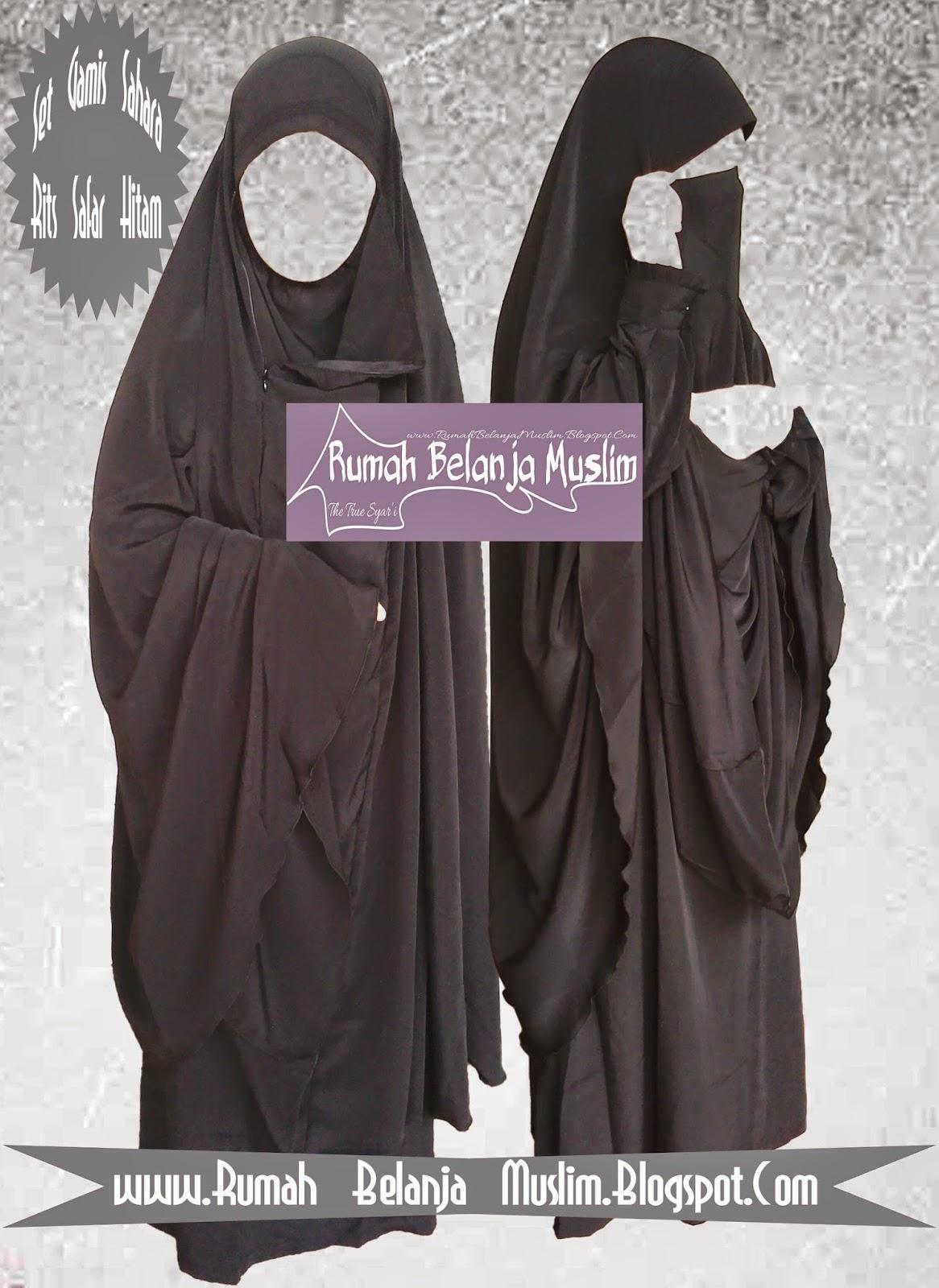 Gamis jilbab cadar rits sahara Baju gamis cadar