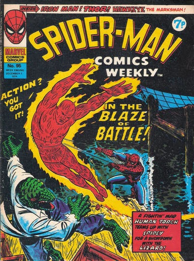 Spider-Man Comics Weekly #95, the Lizard and Human Torch