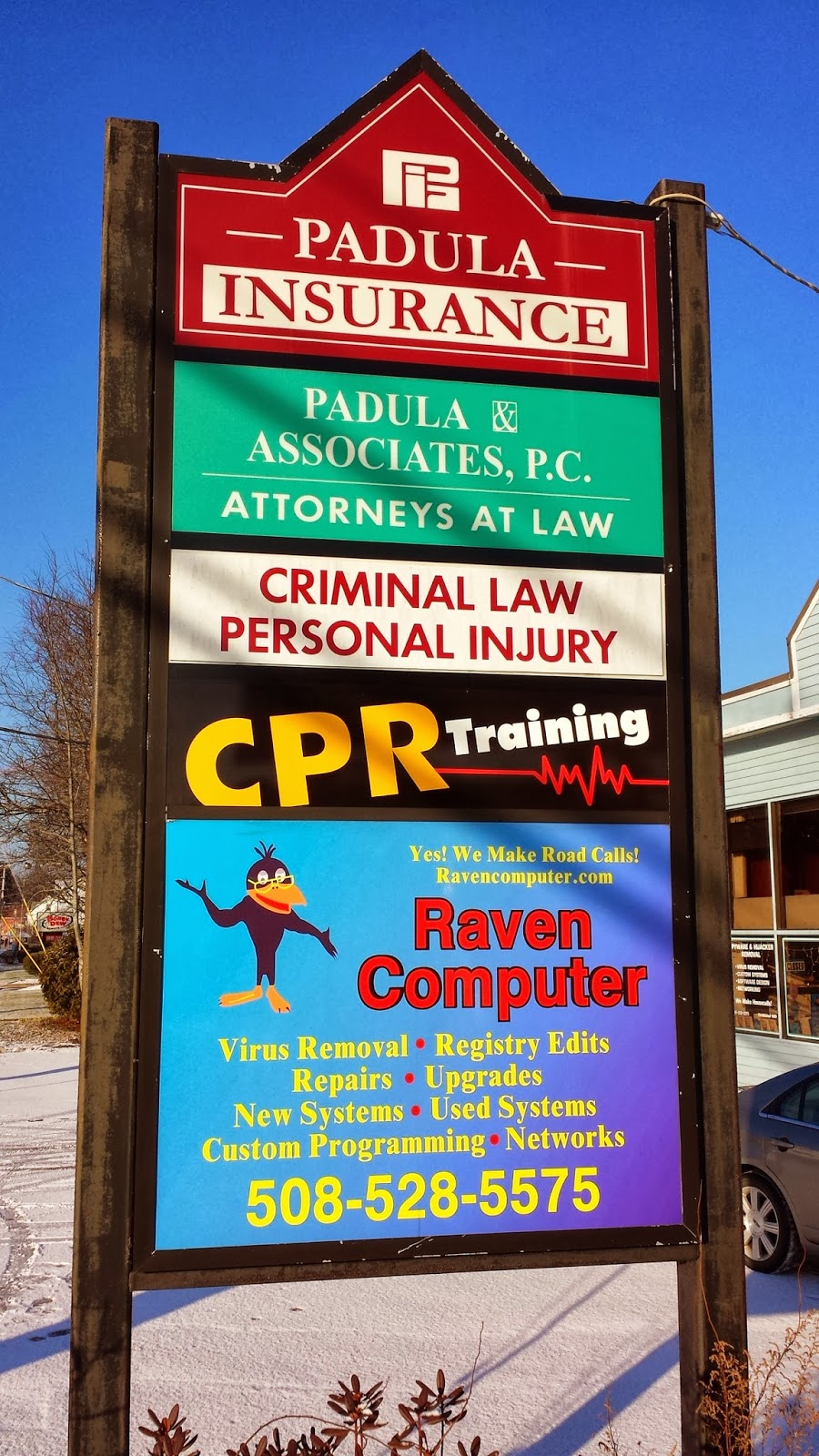 Act 1sr CPR - office sign on East Central St (next to Hess Oil)