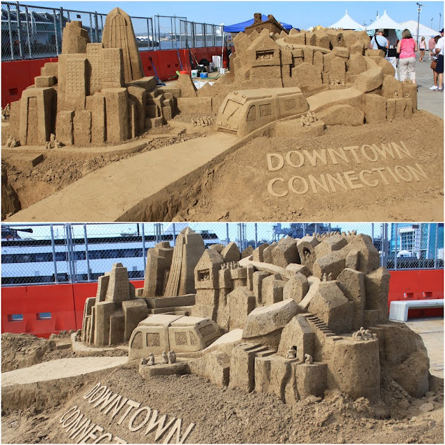 Team Archisand designed a modern Downtown Structure at Sand Sculpting Challenge 2012 in San Diego, California, USA