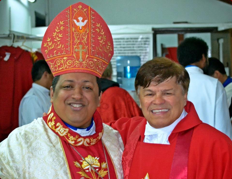 Dom Frei Lucas Macieira e Dom  Archimedes  Armando Orellana