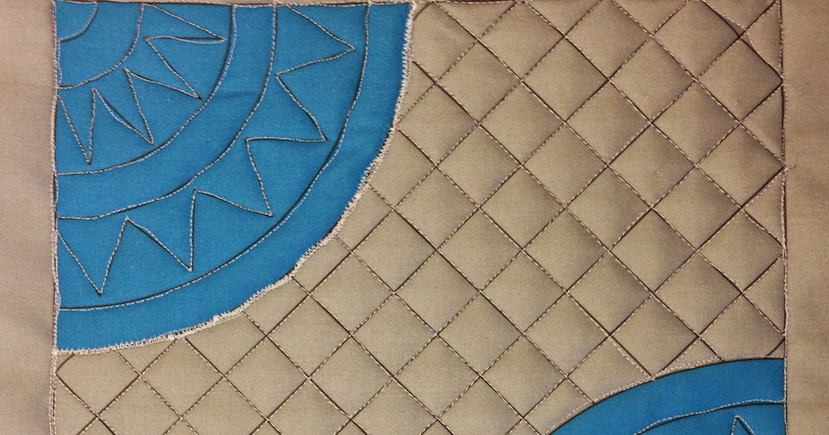 Quilting Grid Patterns : The Free Motion Quilting Project: Josh s Lines & Grids in a Cheater Drunkard s Path