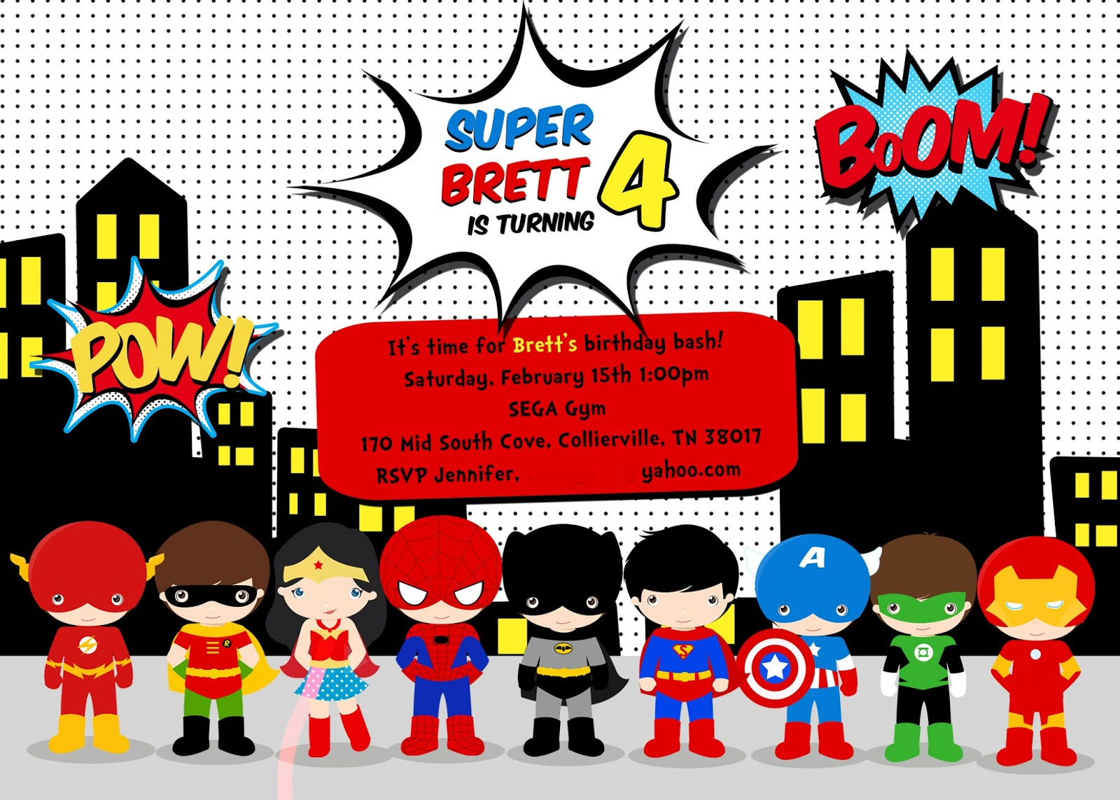 Bretts Superhero 4th Birthday Party