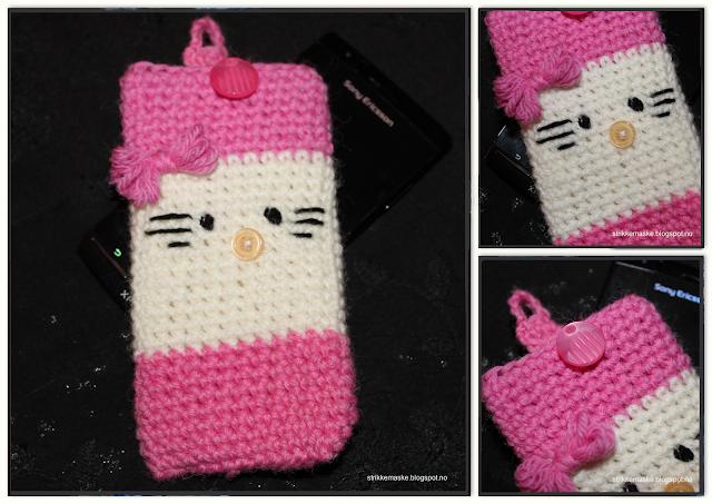 Hello Kitty Mobiletui med oppskrift