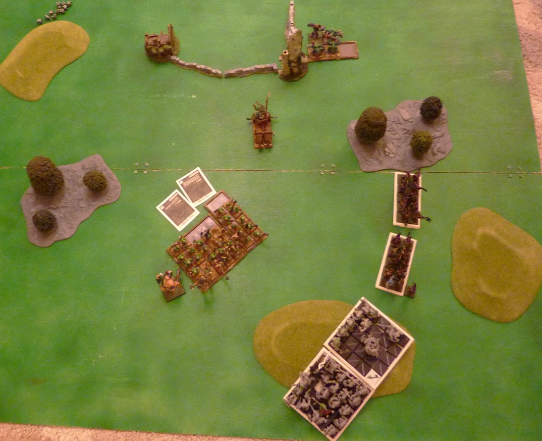 Warhammer Fantasy Battle Report: Warriors of Chaos vs Savage Orcs