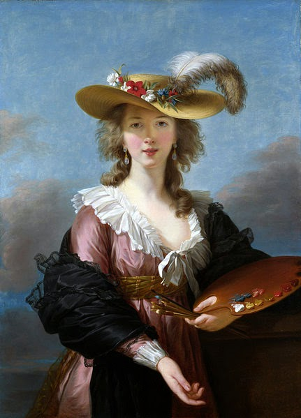 Self-portrait in a Straw Hat by Louise Élisabeth Vigée Le Brun, after 1782