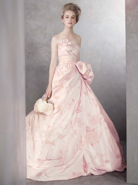Dawn j 39 s fashion wedding gown pink wedding gowns for Pink vera wang wedding dresses