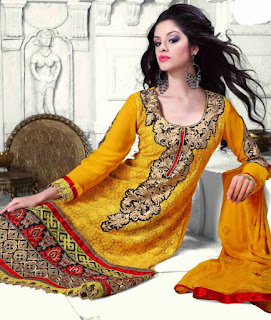 Yellow Anarkali Suit Online- Bollywood