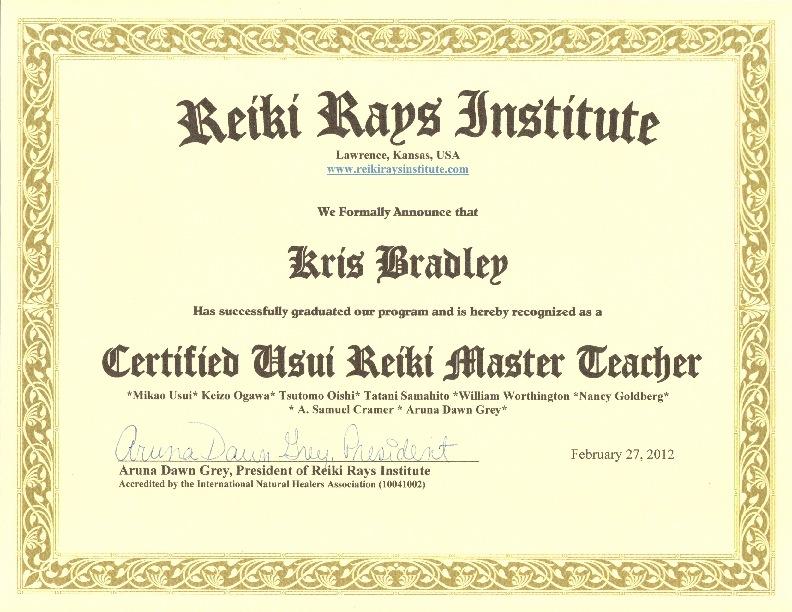 pin reiki certificate printable - photo #35