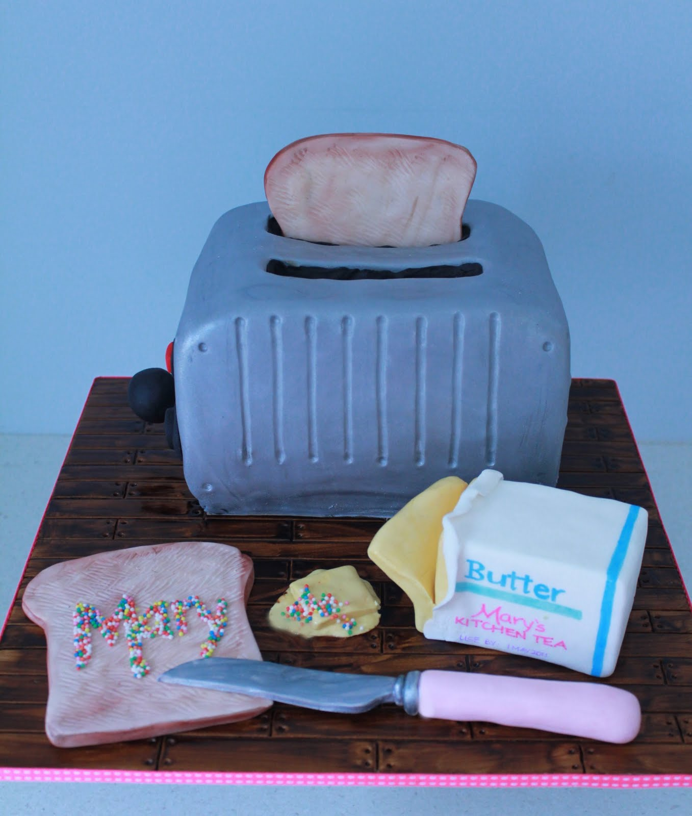 Kitchen Tea Cake Blissfully Sweet Retro Toaster Kitchen Tea Cake