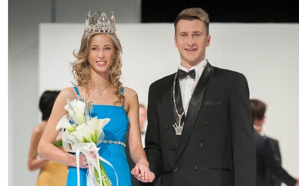 Mister and Miss Latvia 2012 winner Eva Dombrovska Kaspars Romanovs