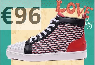 basket louboutin homme rouge