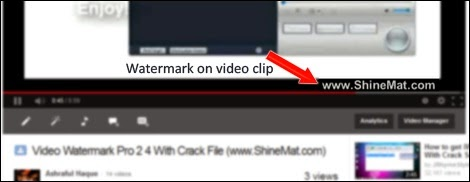 video watermark to protect copying