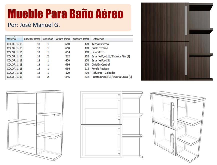 Diseño De Muebles Madera Lista de Piezas Mueble Para Baño Aéreo