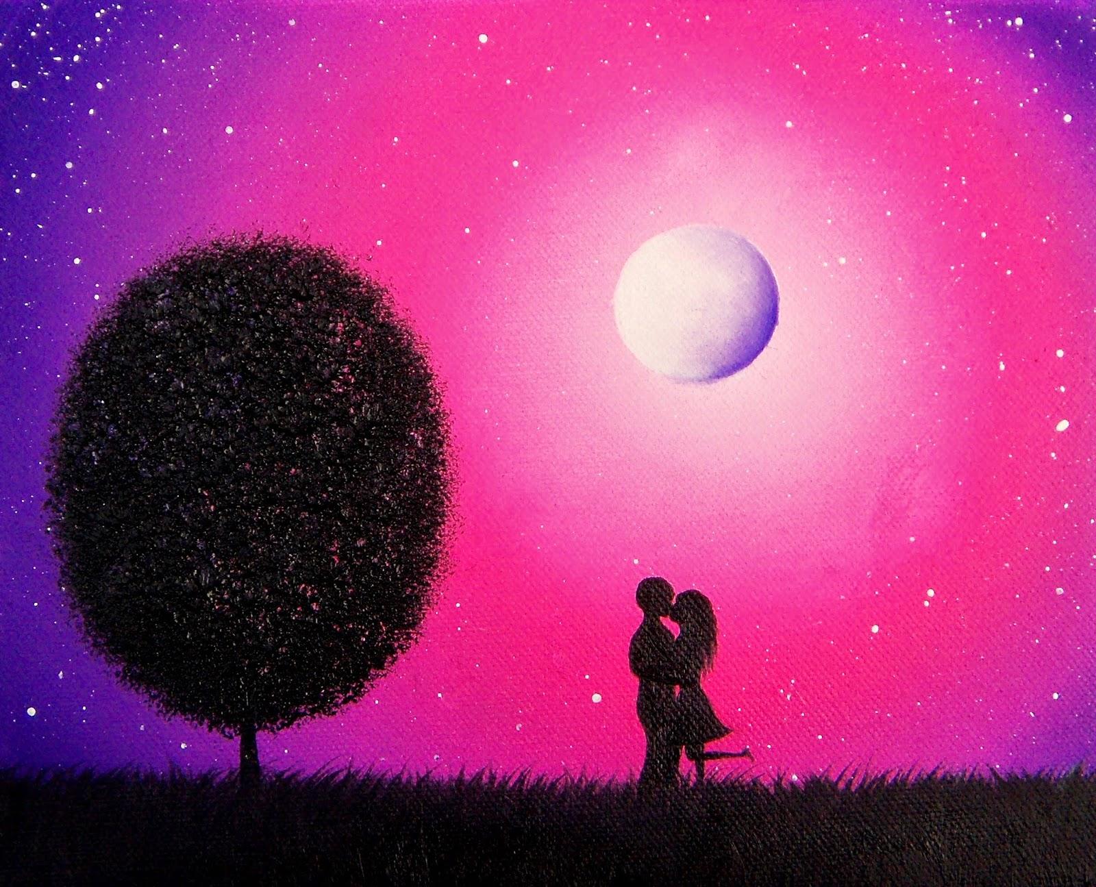 easy night scene paintings - photo #26