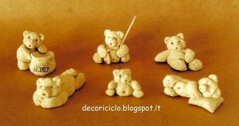 decoriciclo: Orsetti di pasta di legno
