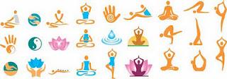 meditação e fitness em vetor