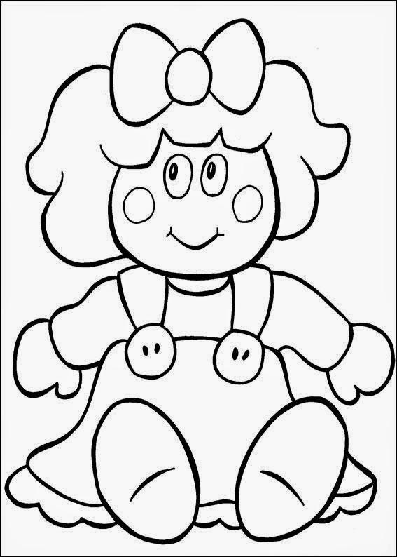 Conhecido Desenhos Para Pintar: Desenhos de Bonecas para Colorir UD61