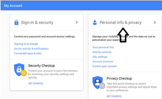 Mengubah profile akun google