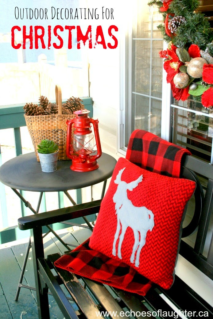 i started by creating this table vignette with some natural elements combined with a pops of red this is my second year of decorating in red white after - Red And White Outdoor Christmas Decorations