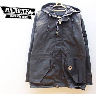 jaket parka hitam polos