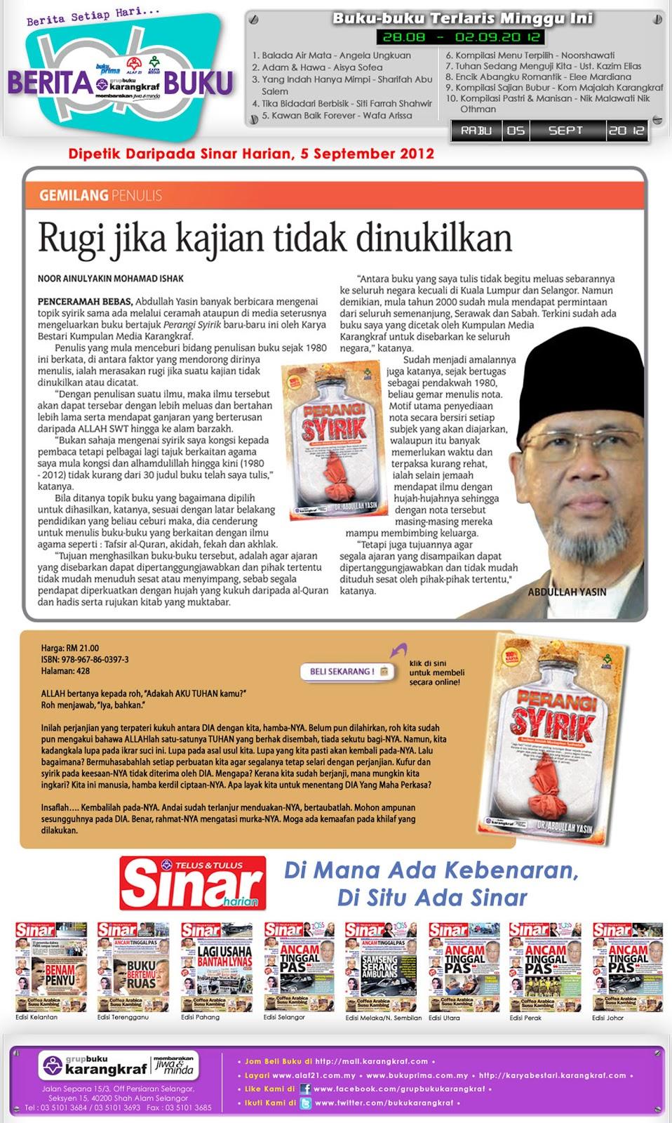 Dr. Abdullah Yasin : Perangi Syirik Image001