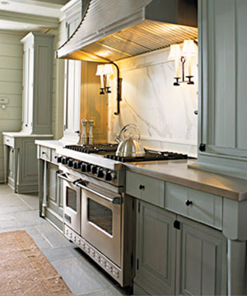 Great Barrington Green Kitchen Cabinets