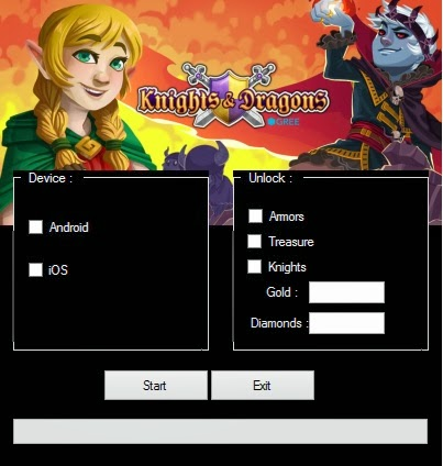 Knights and dragons hack comment ajouter gems or et exp for Miroir projector activation code hack